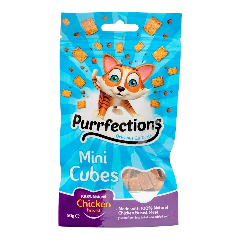 PURRFECTIONS MINI CUBES CHICKEN 50G