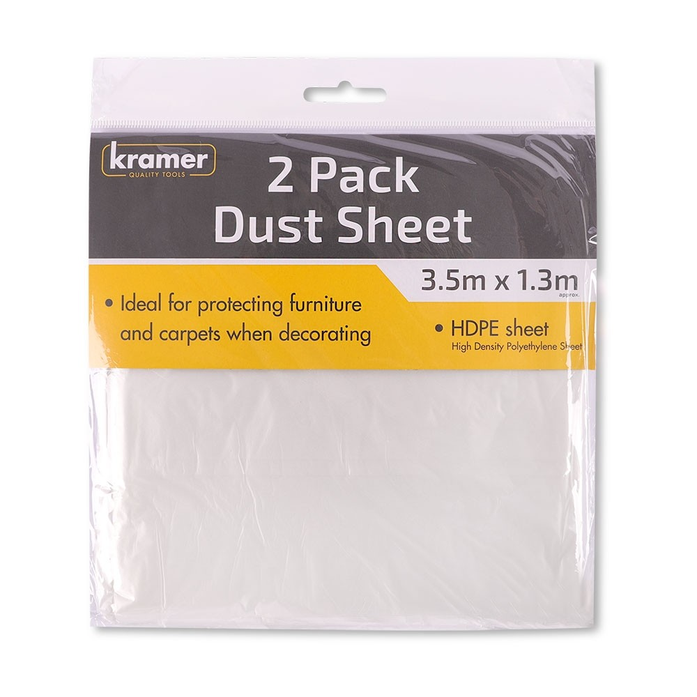 2 DUST SHEETS