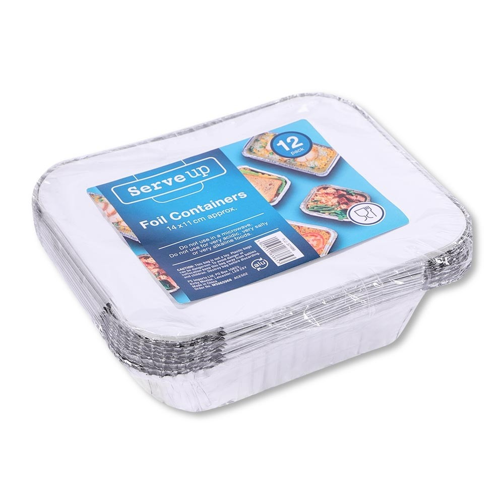 12 PACK FOIL CONTAINERS