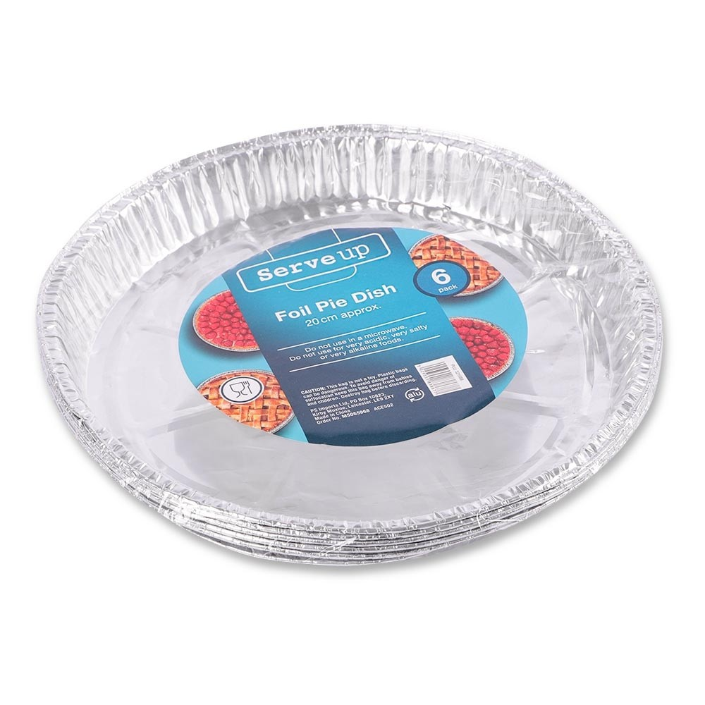 6 PACK FOIL PIE DISHES