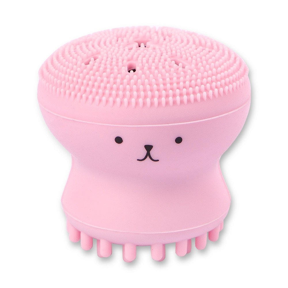 CUTE PINK SILICONE CLEANING BRUSH