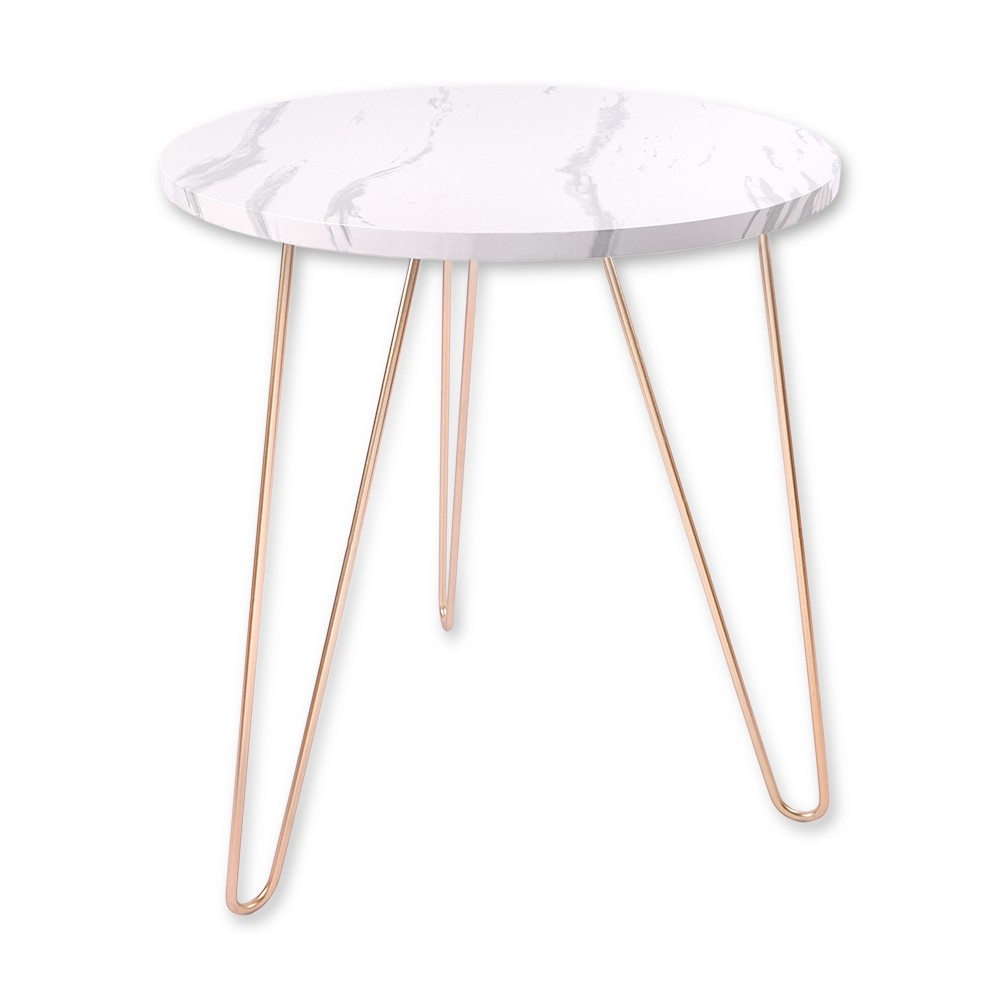 MARBLE EFFECT ROUND TABLE
