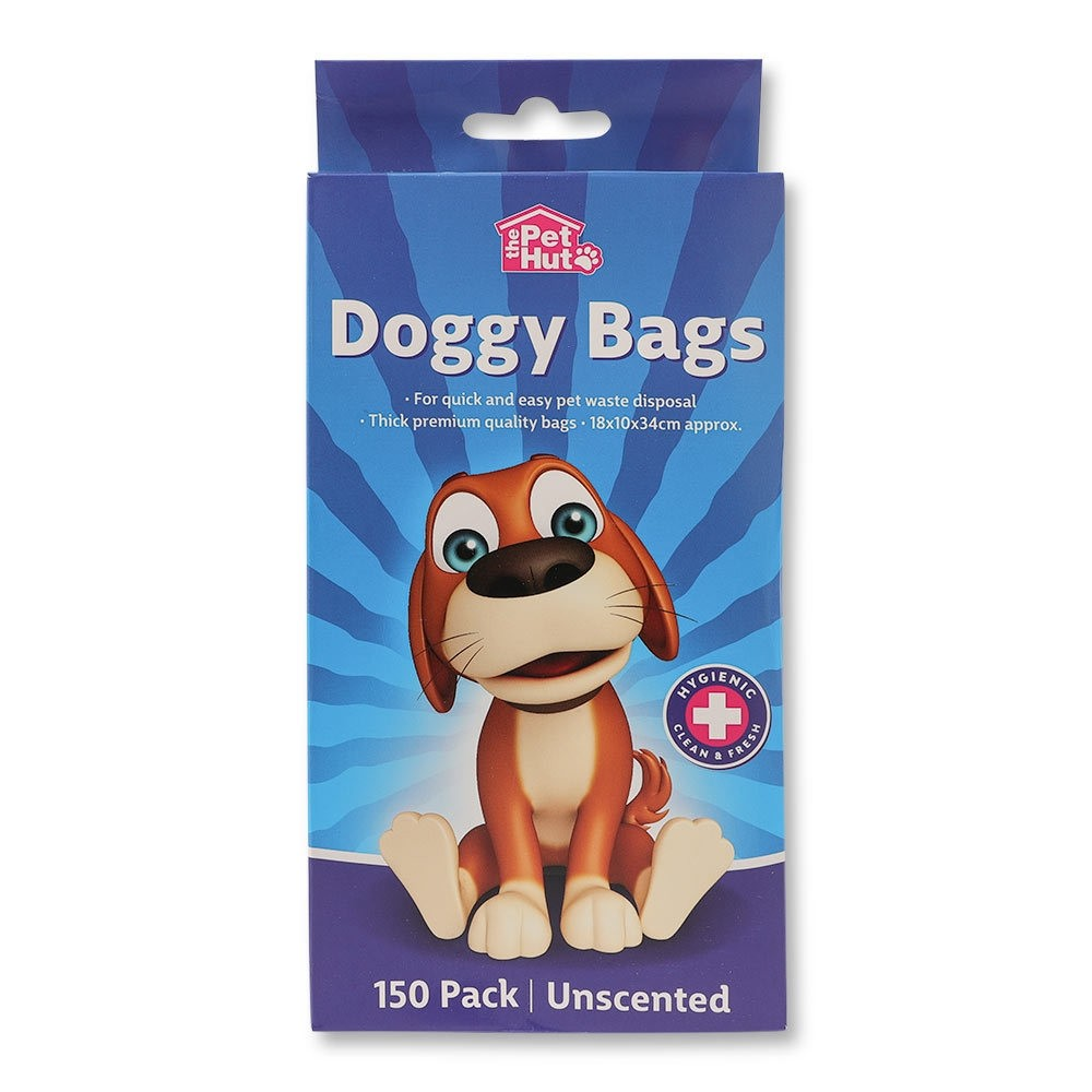 DOGGY BAGS UNSCENTED 150 PACK