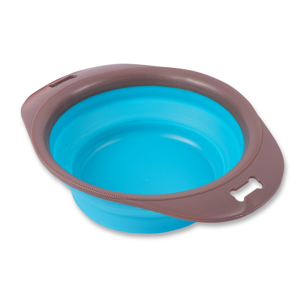 BLUE COLLAPSIBLE PET FEEDING BOWL