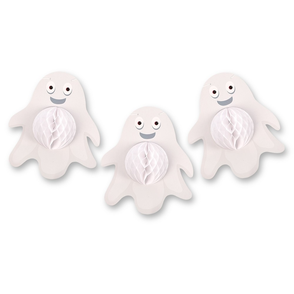 HONEYCOMB GHOST GARLAND 5 PACK