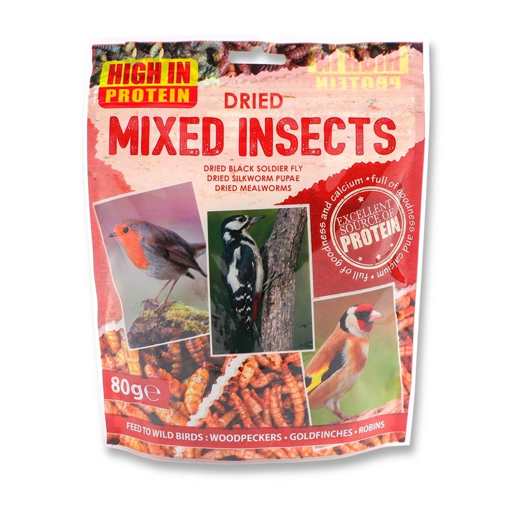 DRIED MIXED INSECTS 80G