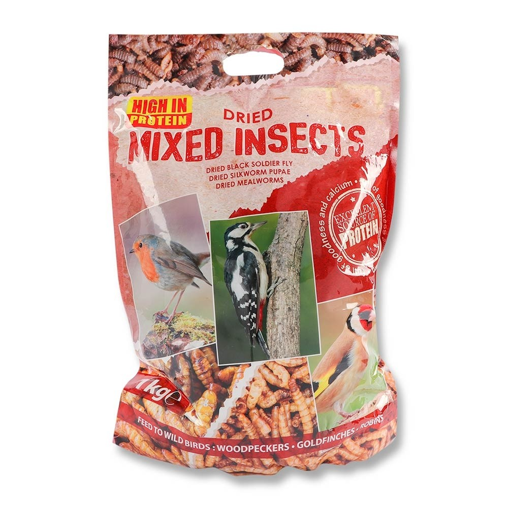 DRIED MIXED INSECTS 1KG