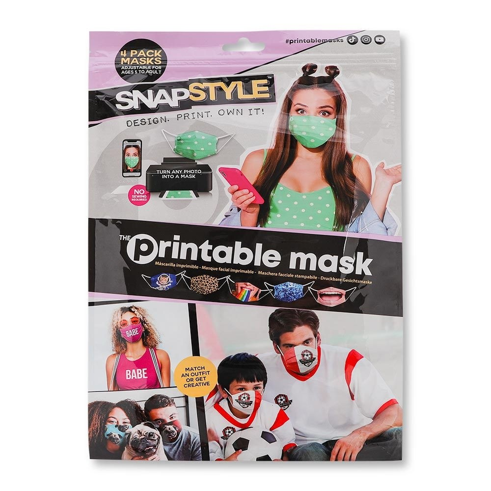 SNAPSTYLE PRINTABLE MASK 4 PACK