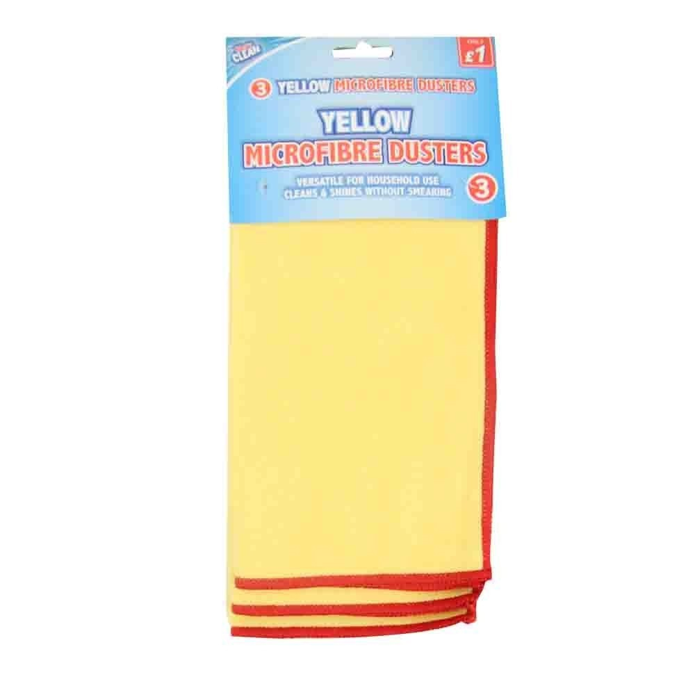 3 PACK MICROFIBRE YELLOW DUSTERS