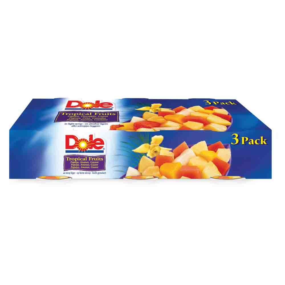 DOLE TROPICAL FRUIT IN JUICE 3 PACK