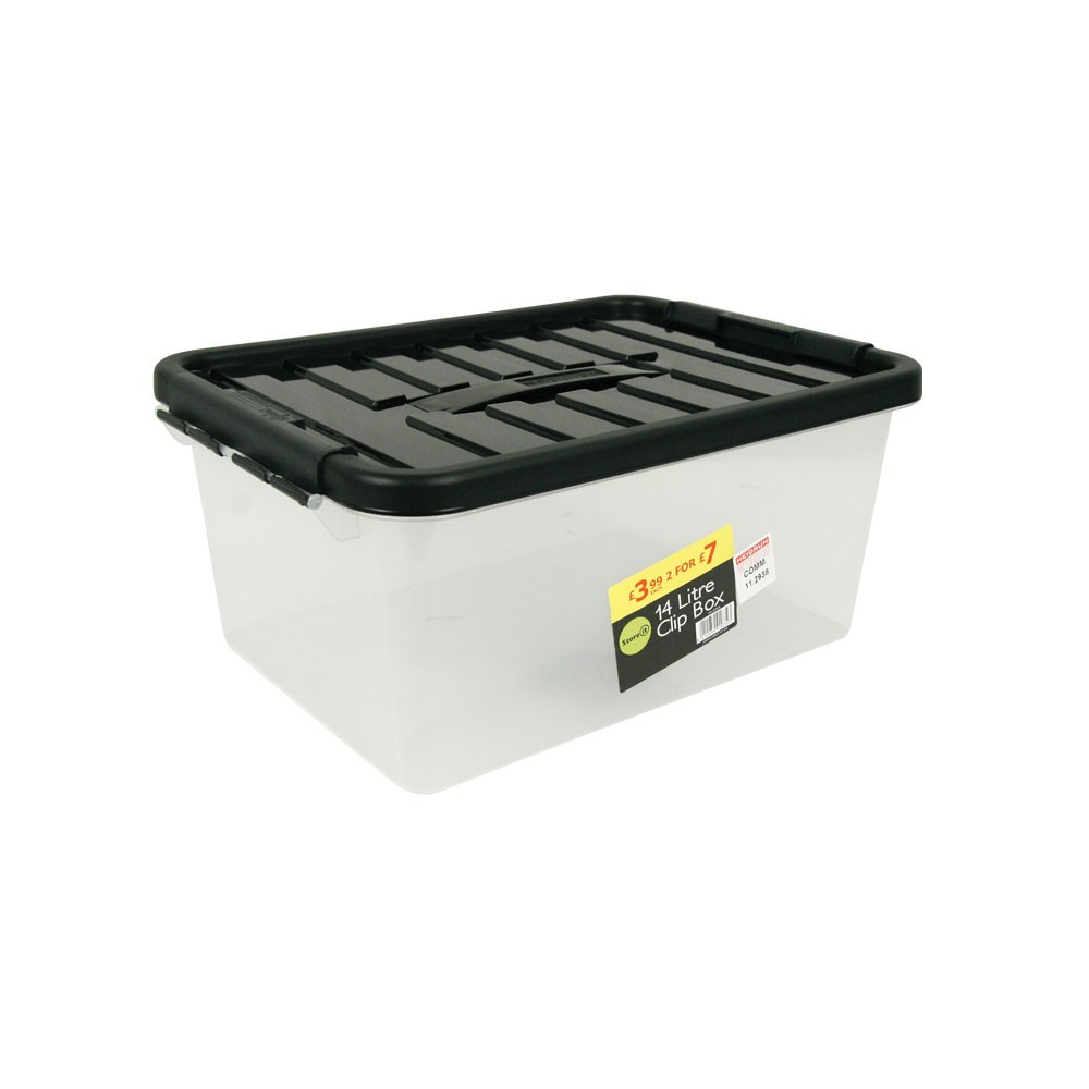 14L CLIP STORAGE BOX WITH HANDLE