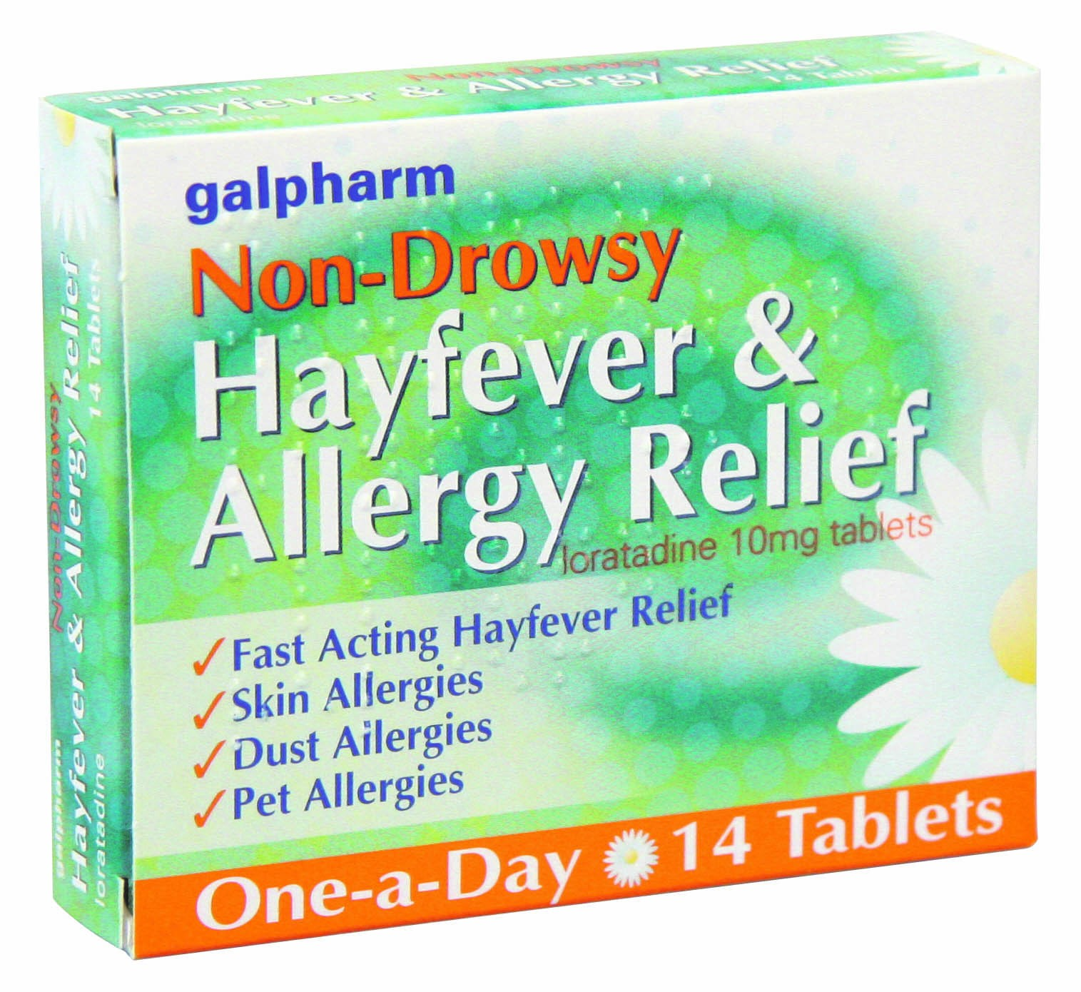 GALPHARM HAYFEVER & ALLERGY LORATADINE TABLETS 14 PACK