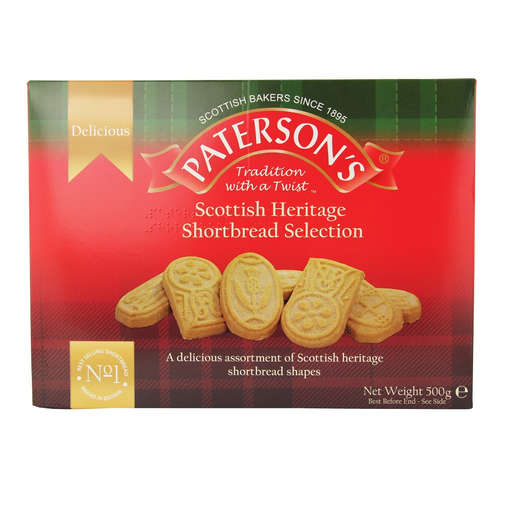 PATERSON'S SHORTBREAD SELECTION 500G