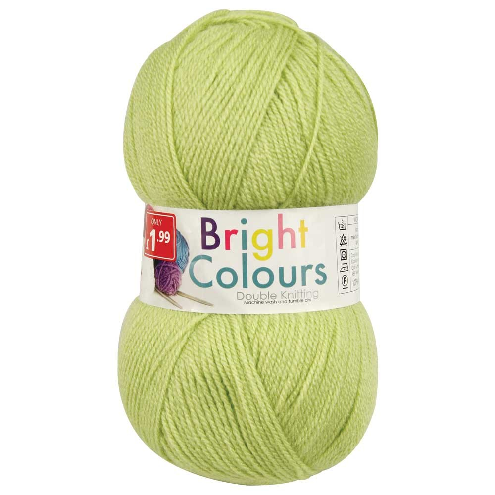 DOUBLE KNIT YARN 1x150g - LIME GREEN