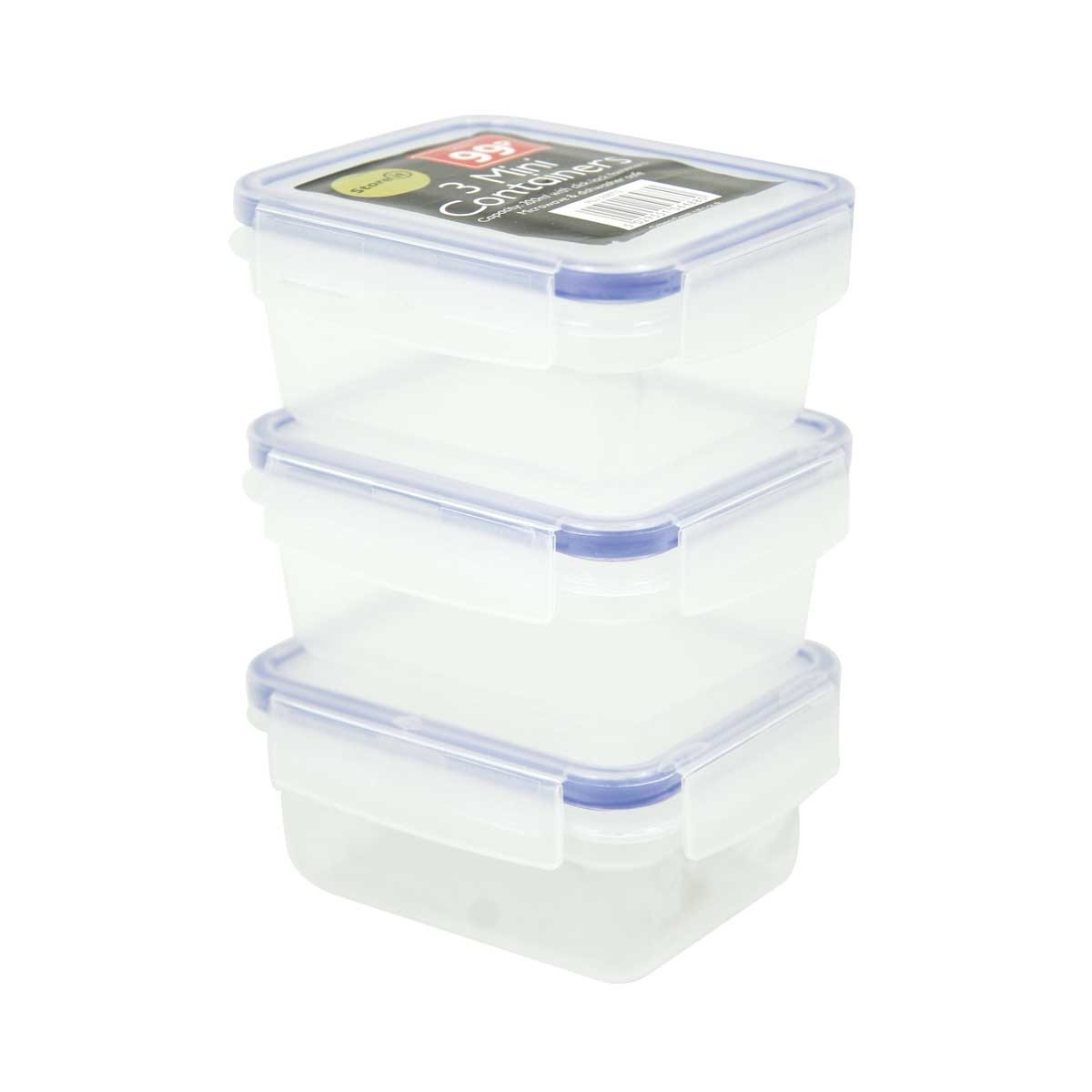 3 PACK SQUARE FOOD BOXES 200ML
