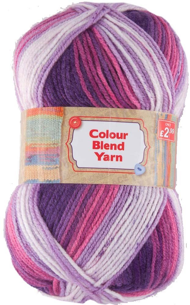 ASSORTED THICK COLOUR BLEND YARN 1x150g