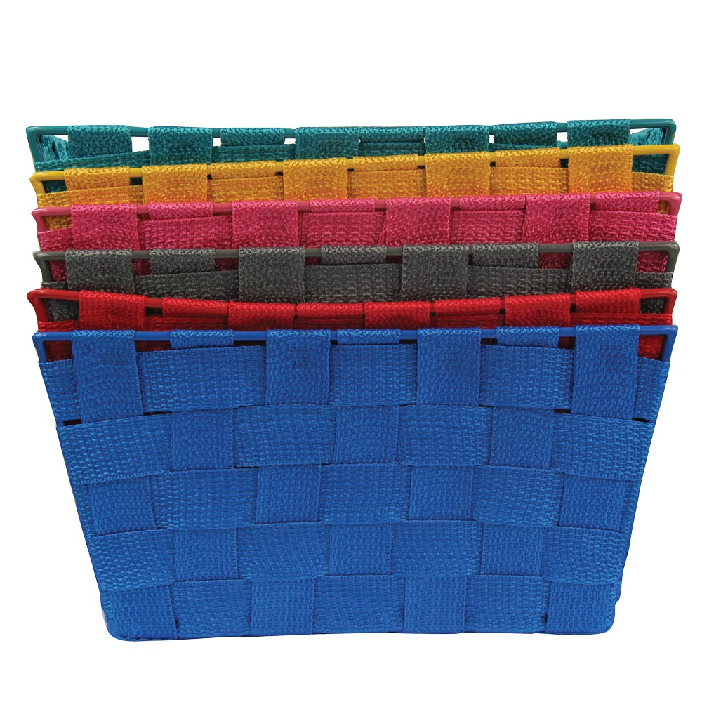 WIDE WEAVE MINI BASKETS - ASSORTED COLOURS