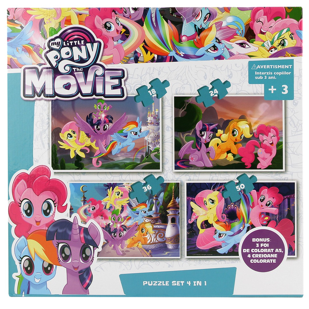 My Little Pony The Movie 4 in a Box Puzzles