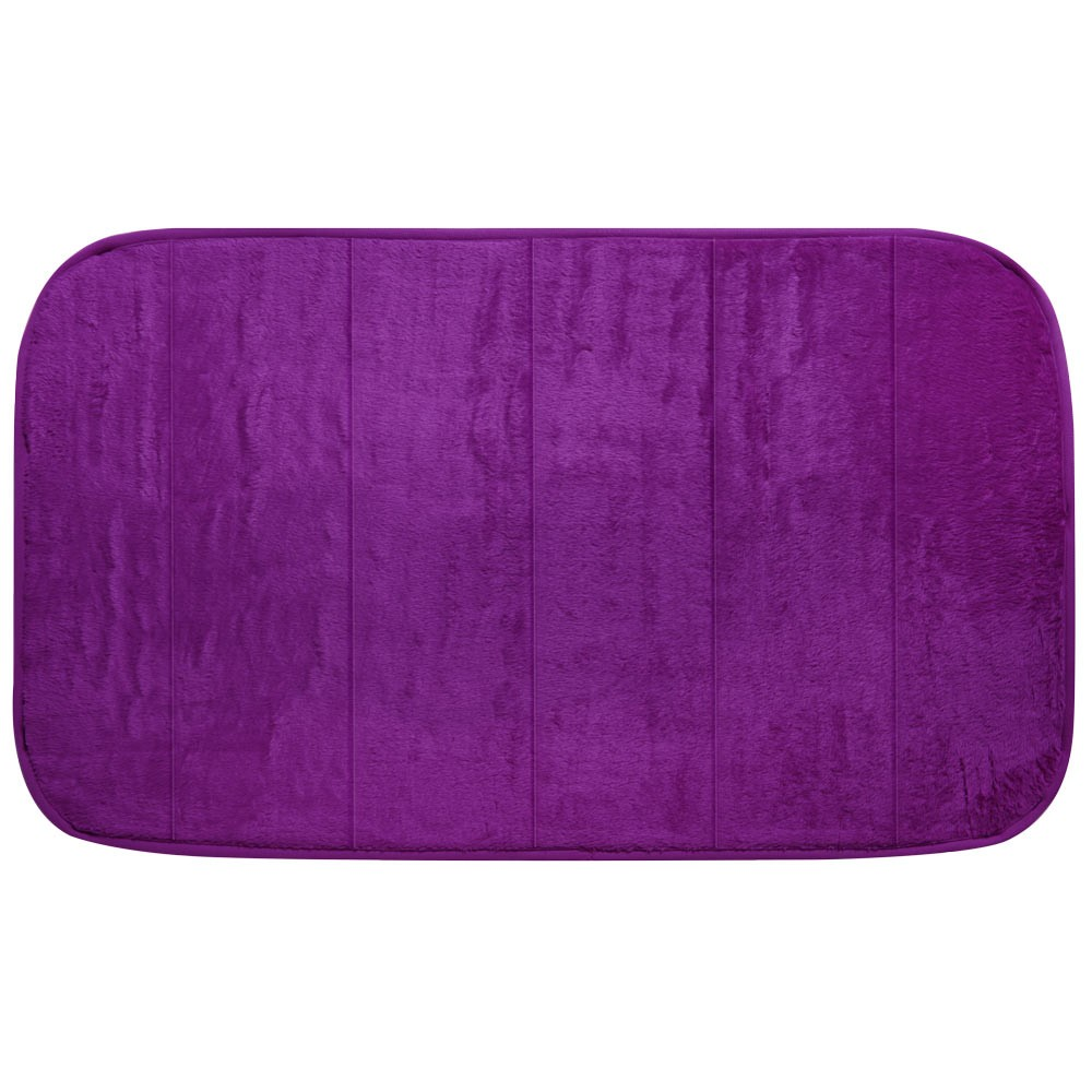 MEMORY FOAM BATH MAT - PLUM