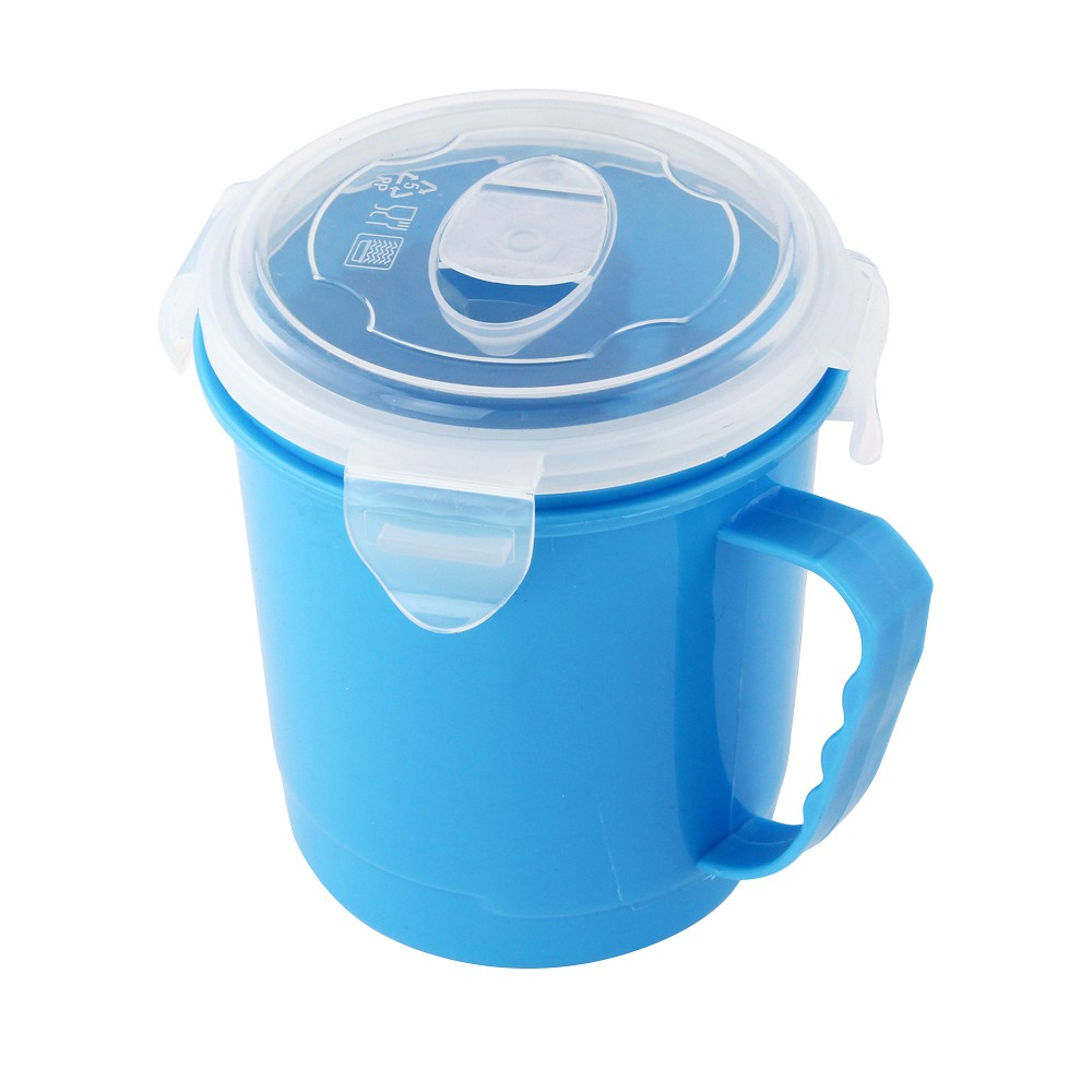BLUE MICROWAVABLE SOUP MUG 500ML
