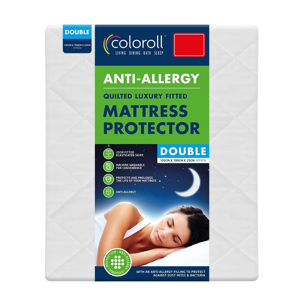 ANTI-ALLERGY MATTRESS PROTECTOR - DOUBLE