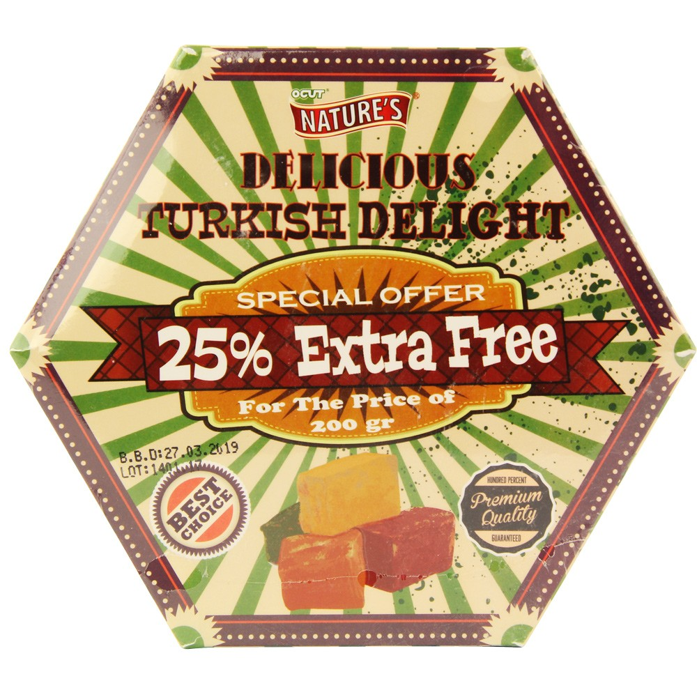NATURES TURKISH DELIGHT 250G