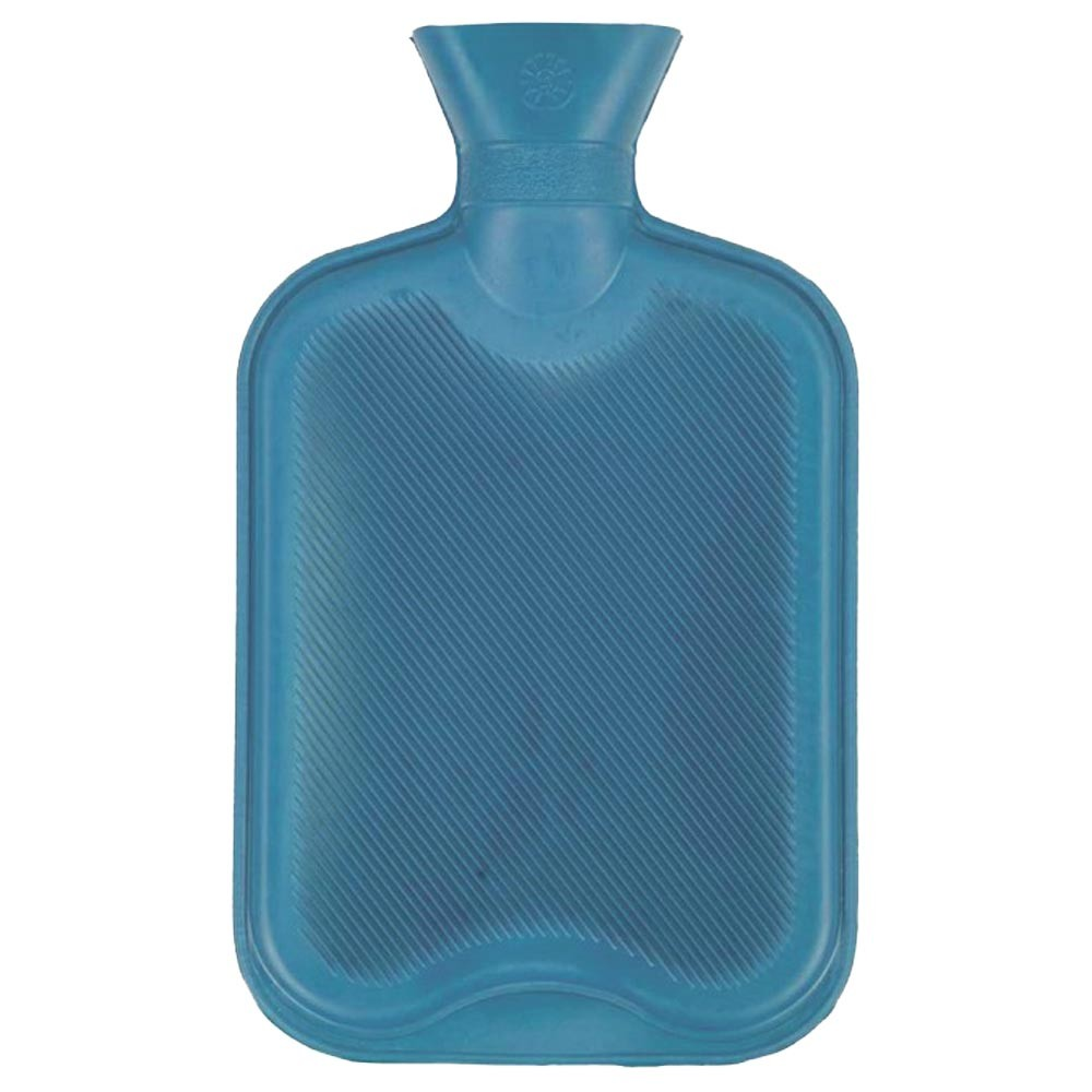 BLUE ESSENTIAL HOT WATER BOTTLE