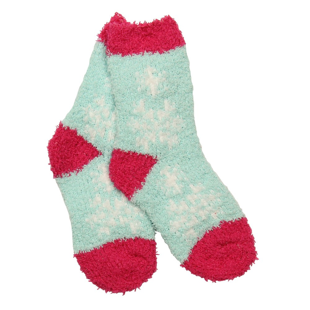 GIRLS SNUGGLE SOCKS - SNOWFLAKES