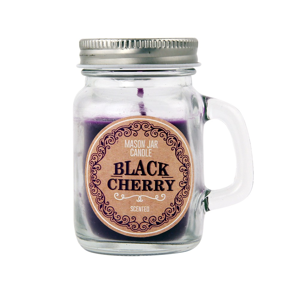 MINI MASON JAR CANDLE BLACK CHERRY