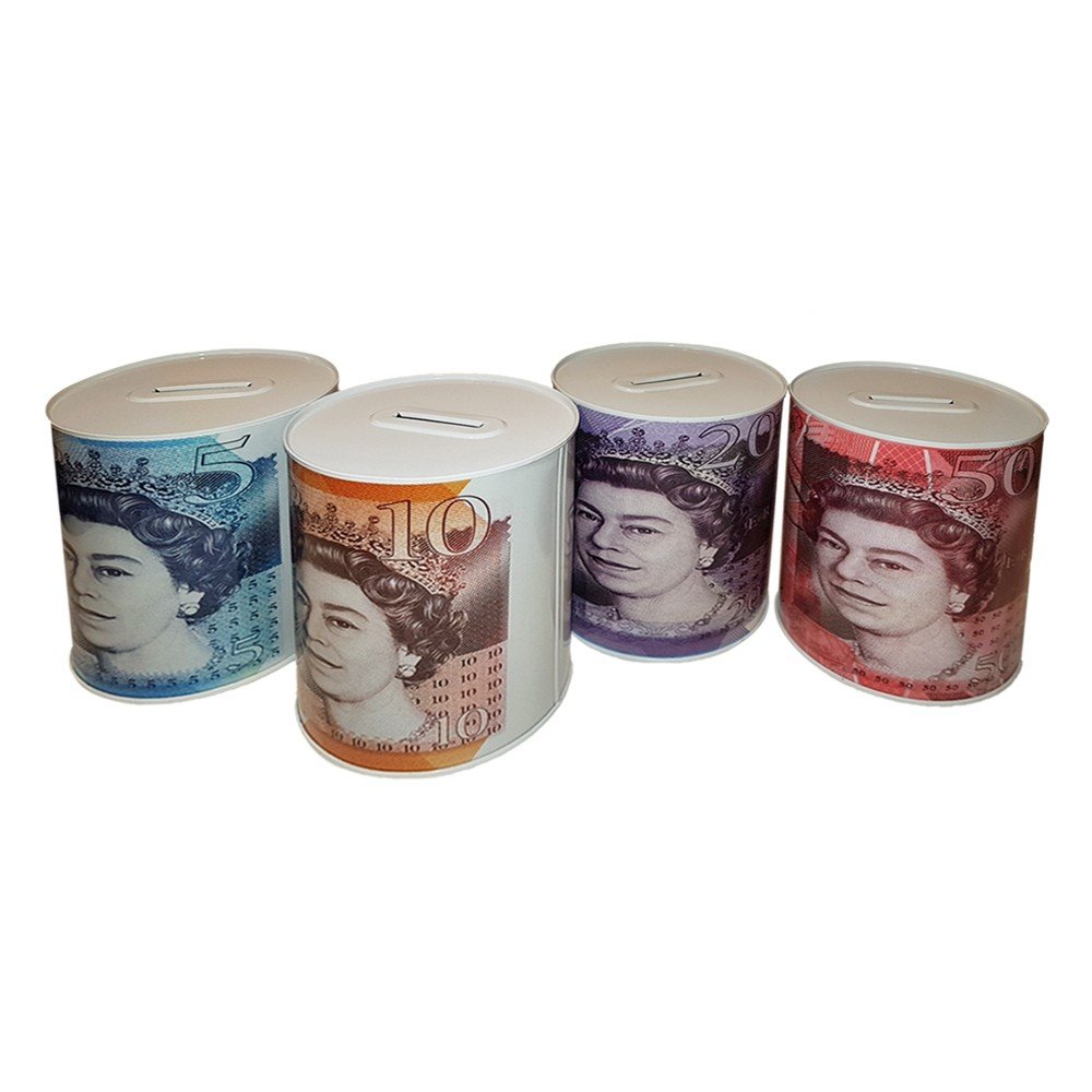 STERLING MONEY TIN - ASSORTED