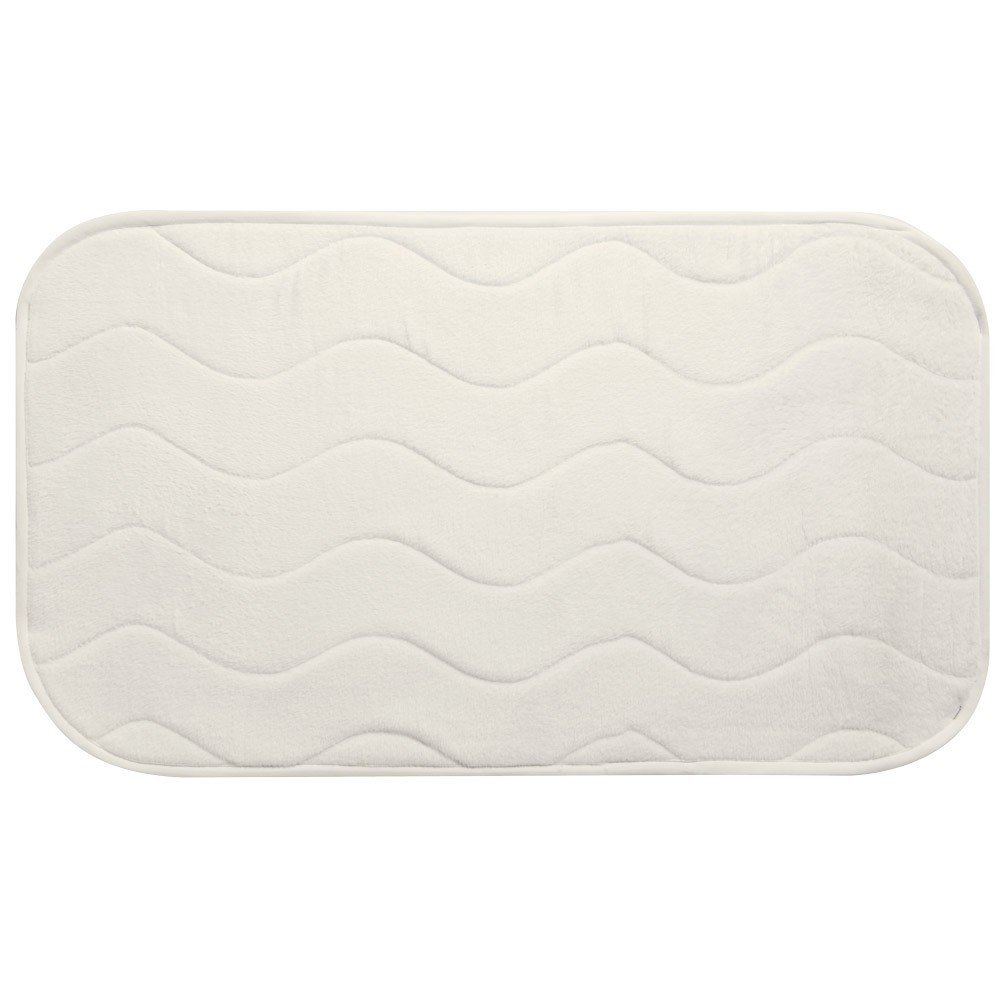 CREAM MICROFIBRE BATH MAT