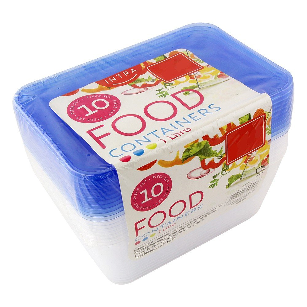 10PK PLASTIC FOOD CONTAINERS