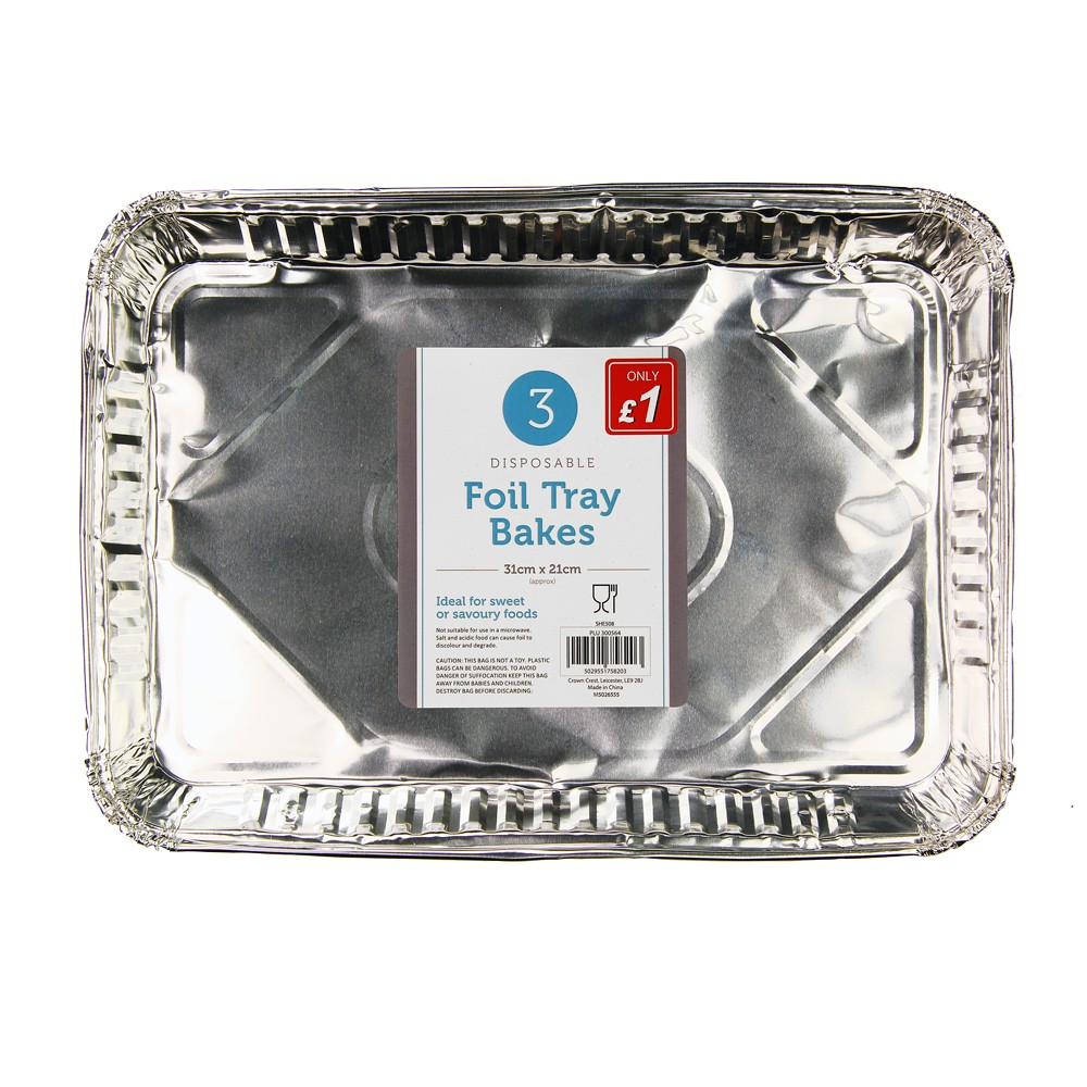3 PACK FOIL TRAY BAKES