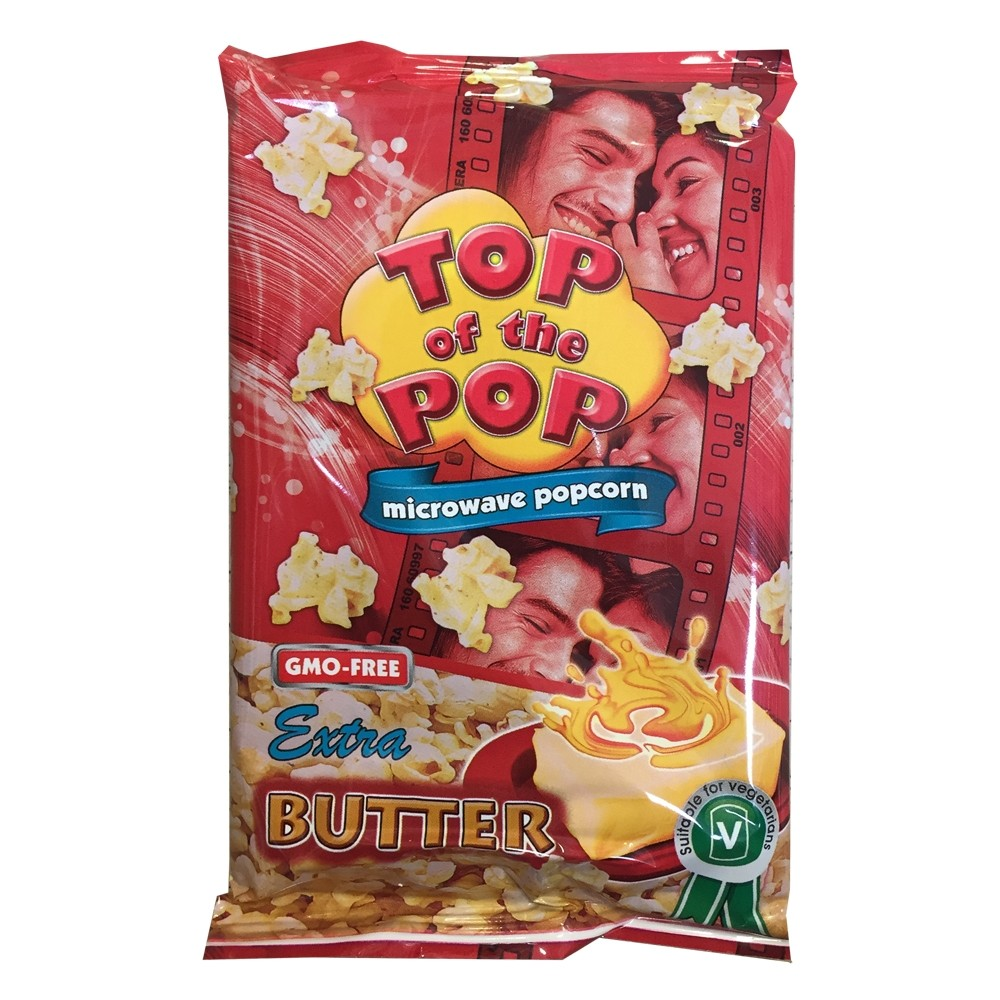 TOP OF THE POPS BUTTER MICROWAVE POPCORN