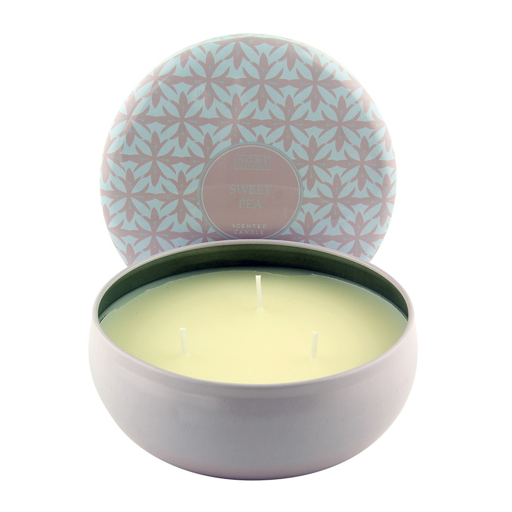 SCENTED TIN CANDLE - SWEET PEA