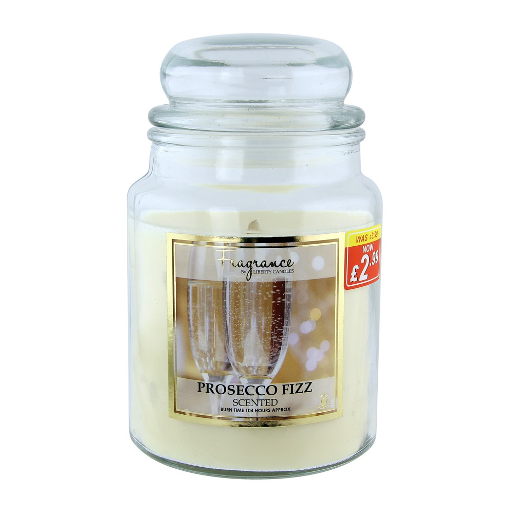 LARGE JAR CANDLE 18OZ - PROSECCO FIZZ