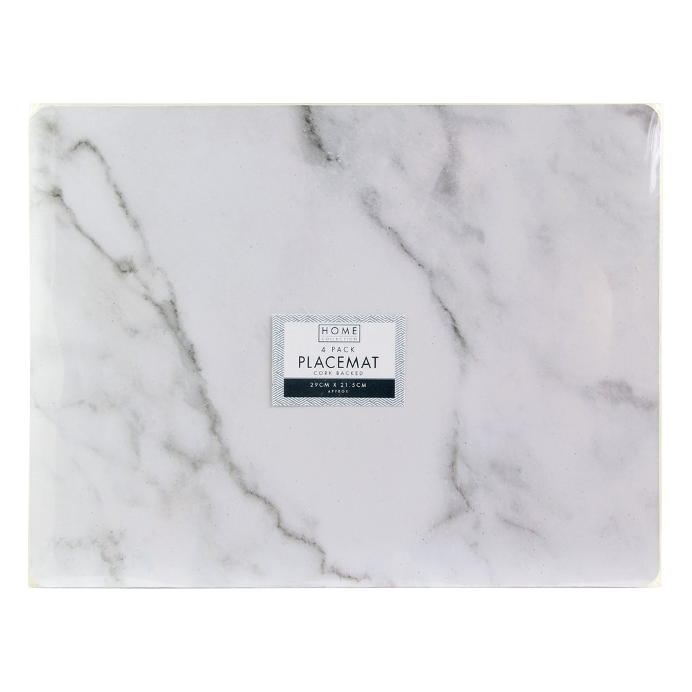 4 PACK MARBLE DESIGN PLACEMATS