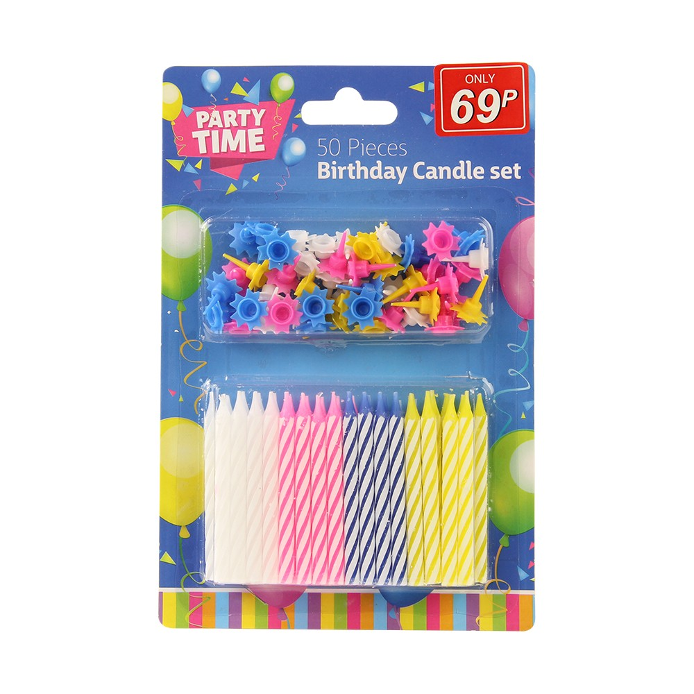 50 PACK BIRTHDAY CANDLES