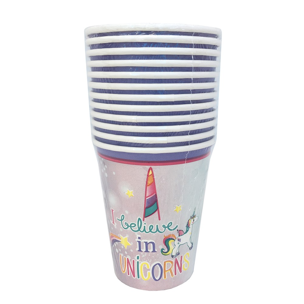 12 UNICORN PARTY PAPER CUPS
