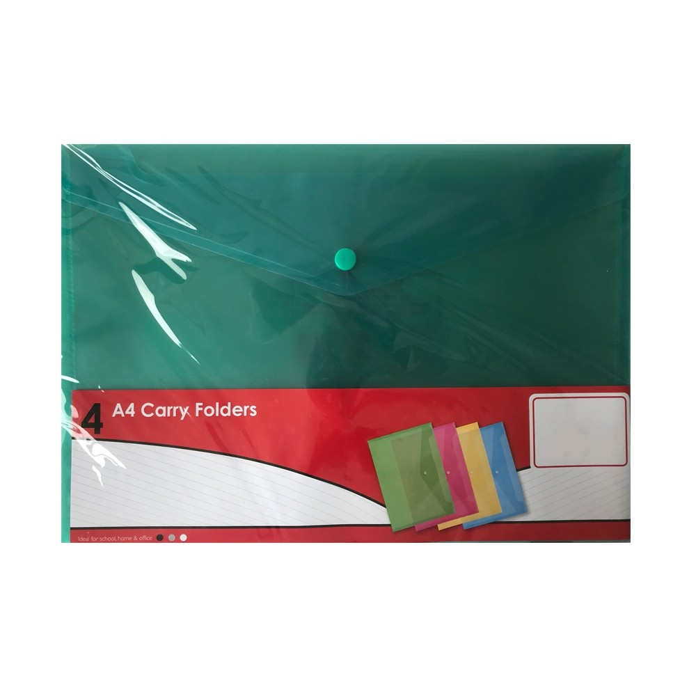 A4 CARRY FOLDERS 4 PACK