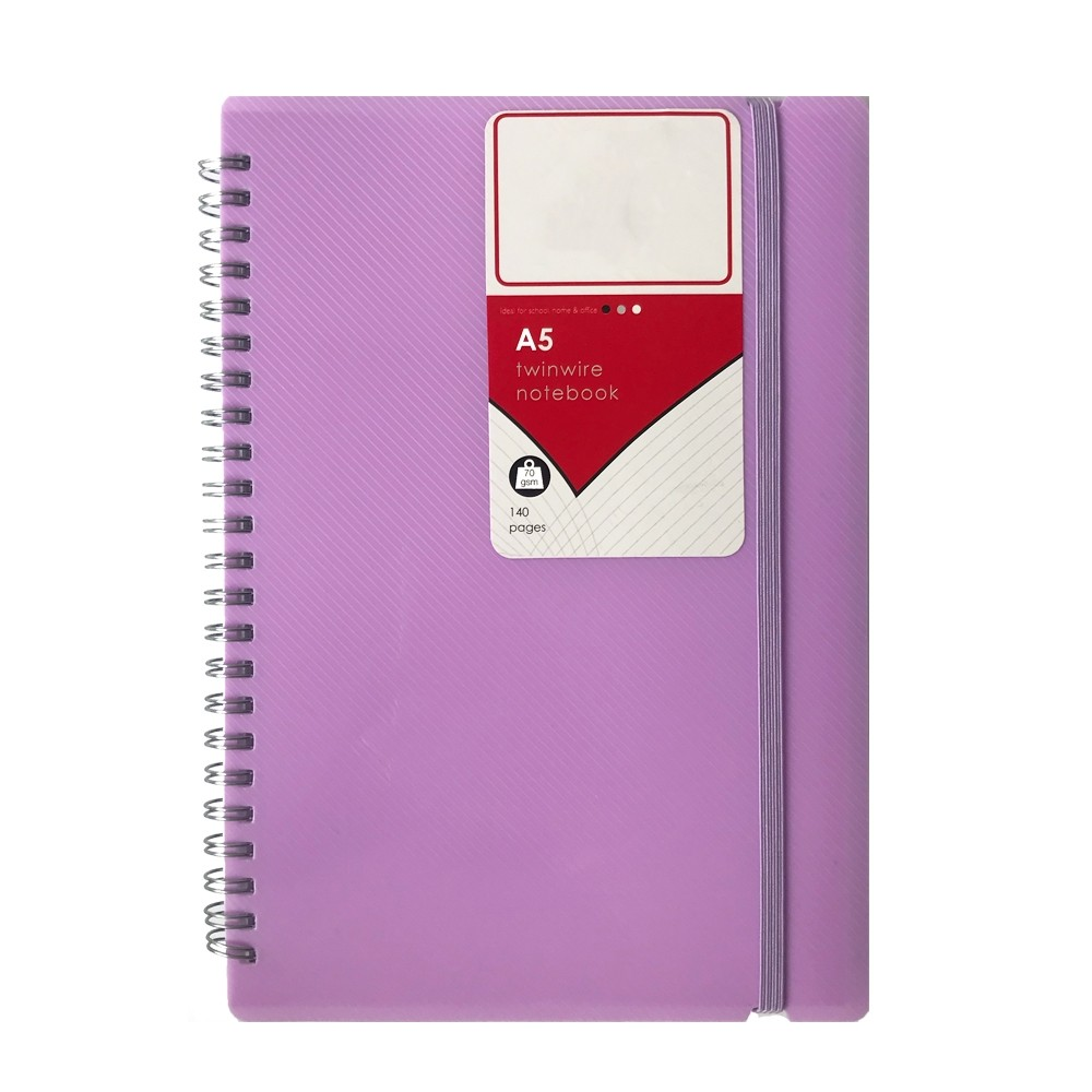 A5 TWINWIRE PASTEL NOTEBOOK