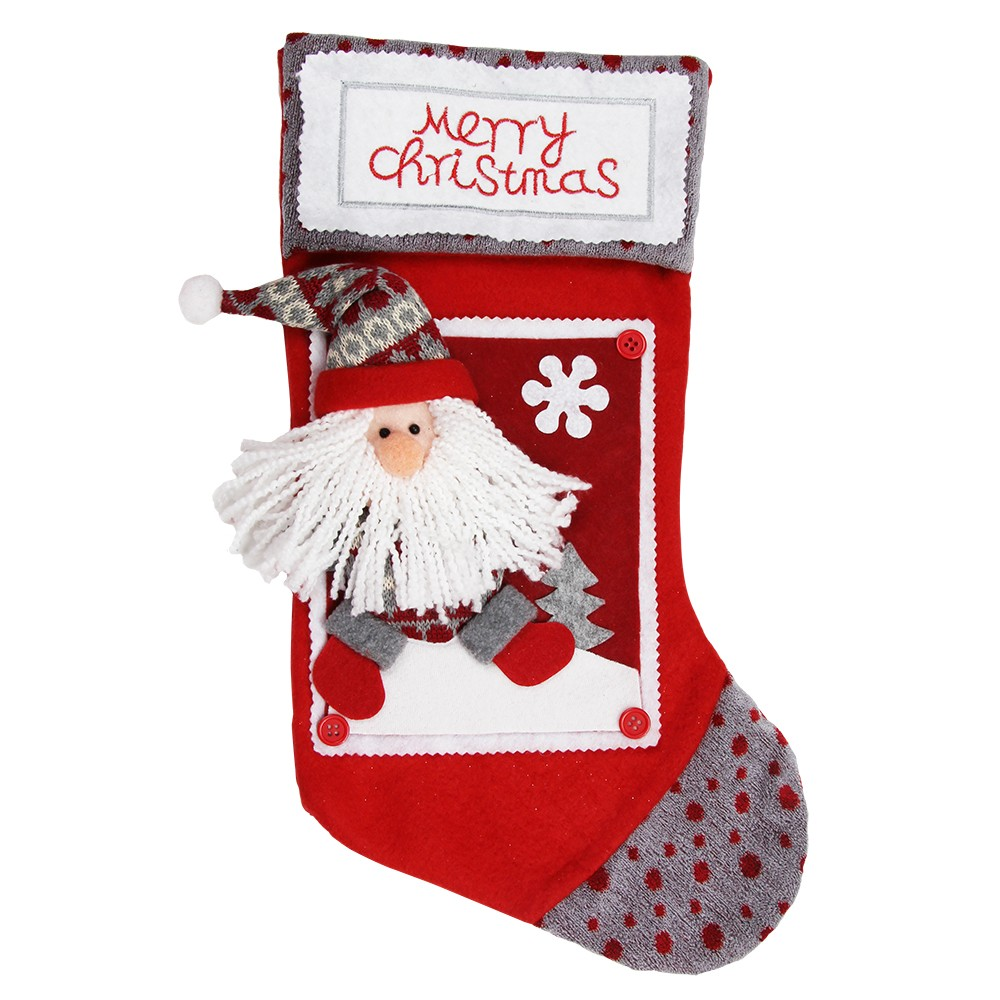 SANTA CHARACTER  DELUXE STOCKING
