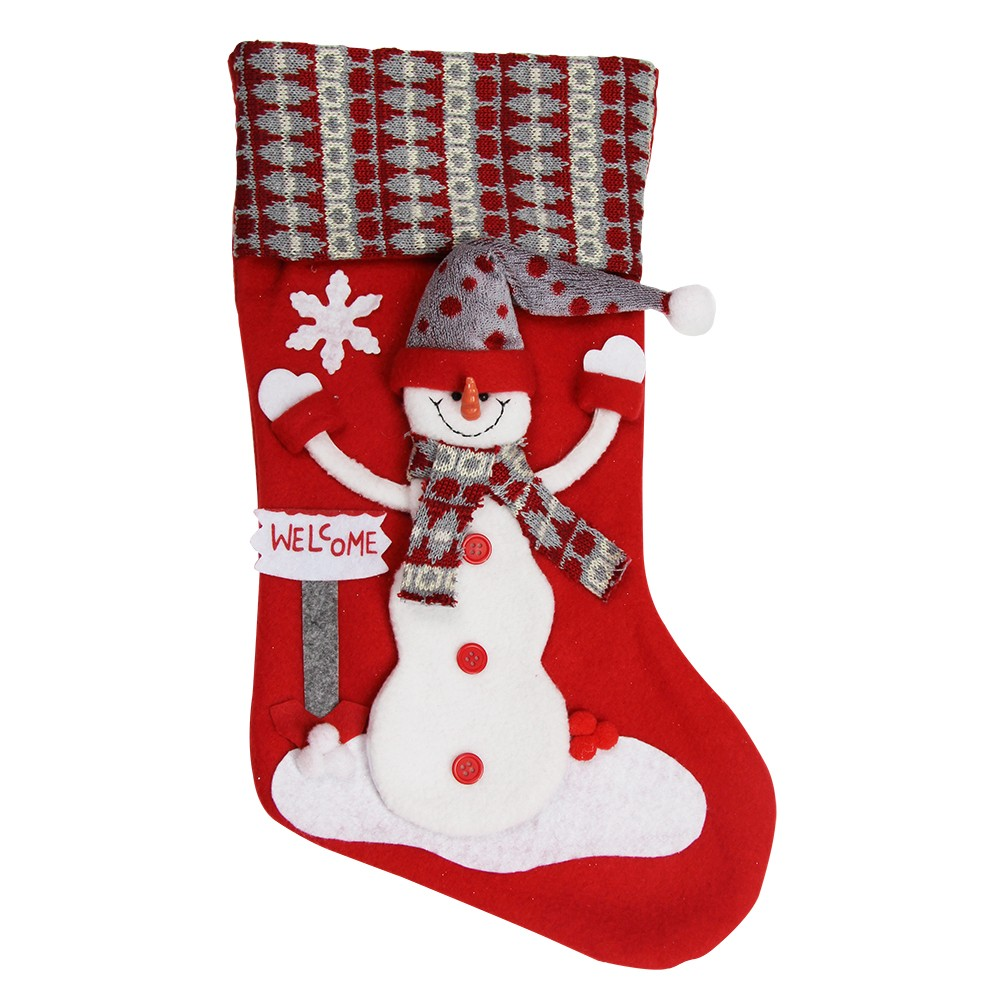 SNOWMAN CHARACTER  DELUXE STOCKING