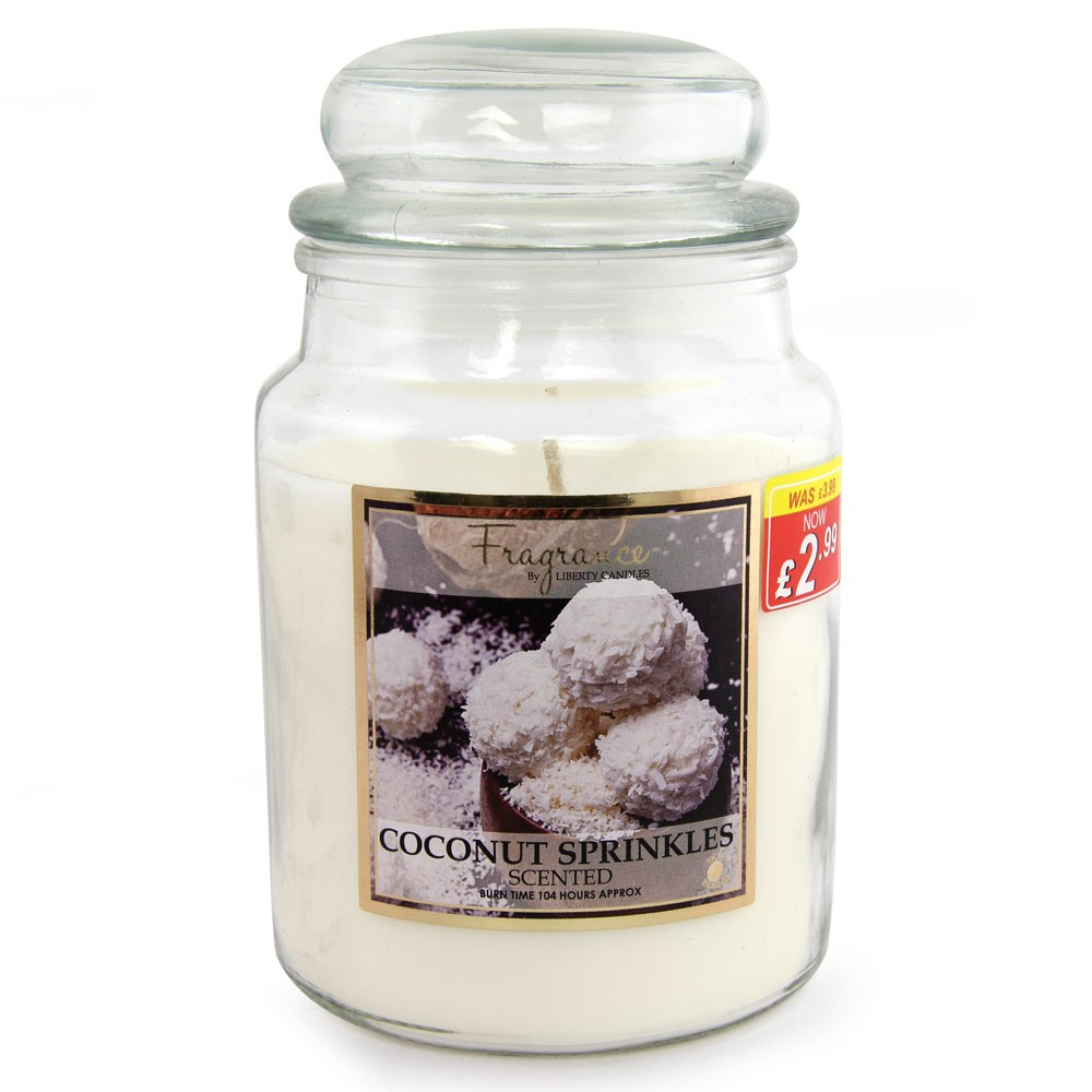 LARGE JAR CANDLE 18OZ - COCONUT SPRINKLES