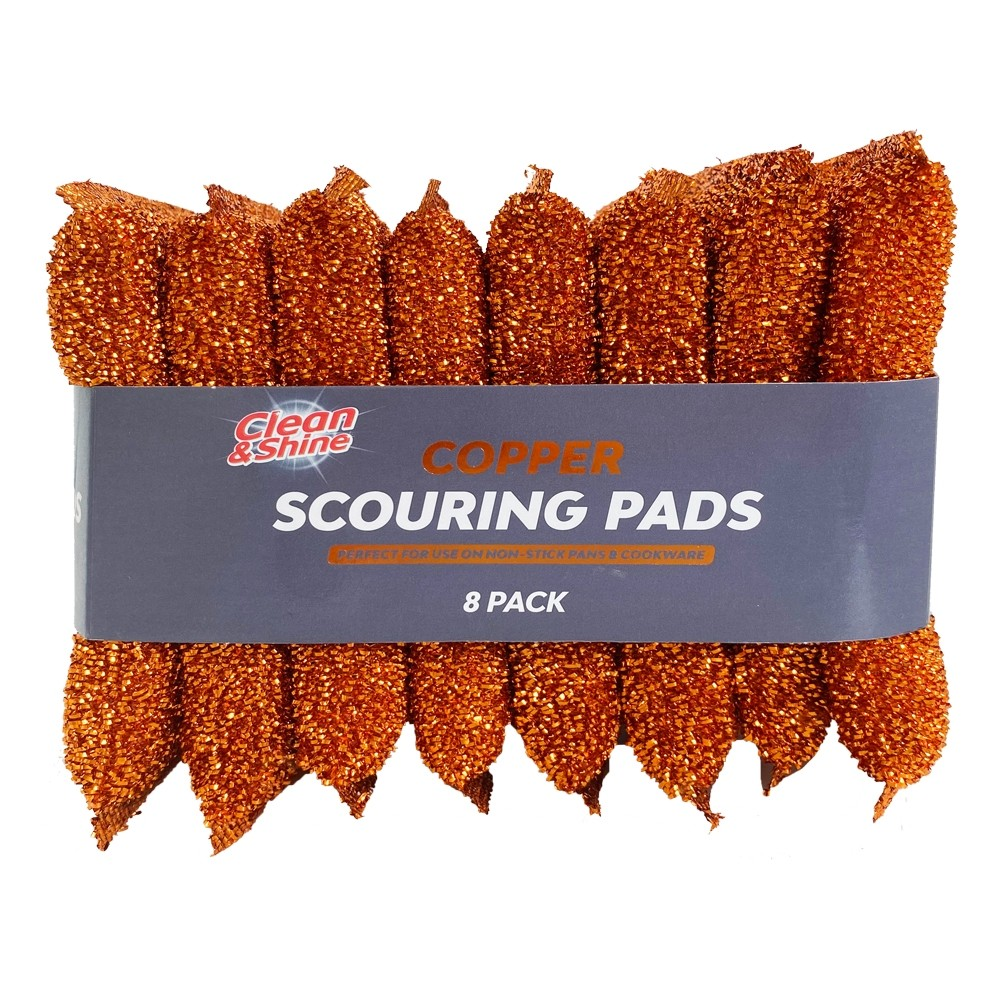 COPPER SCOURING PADS 8 PACK