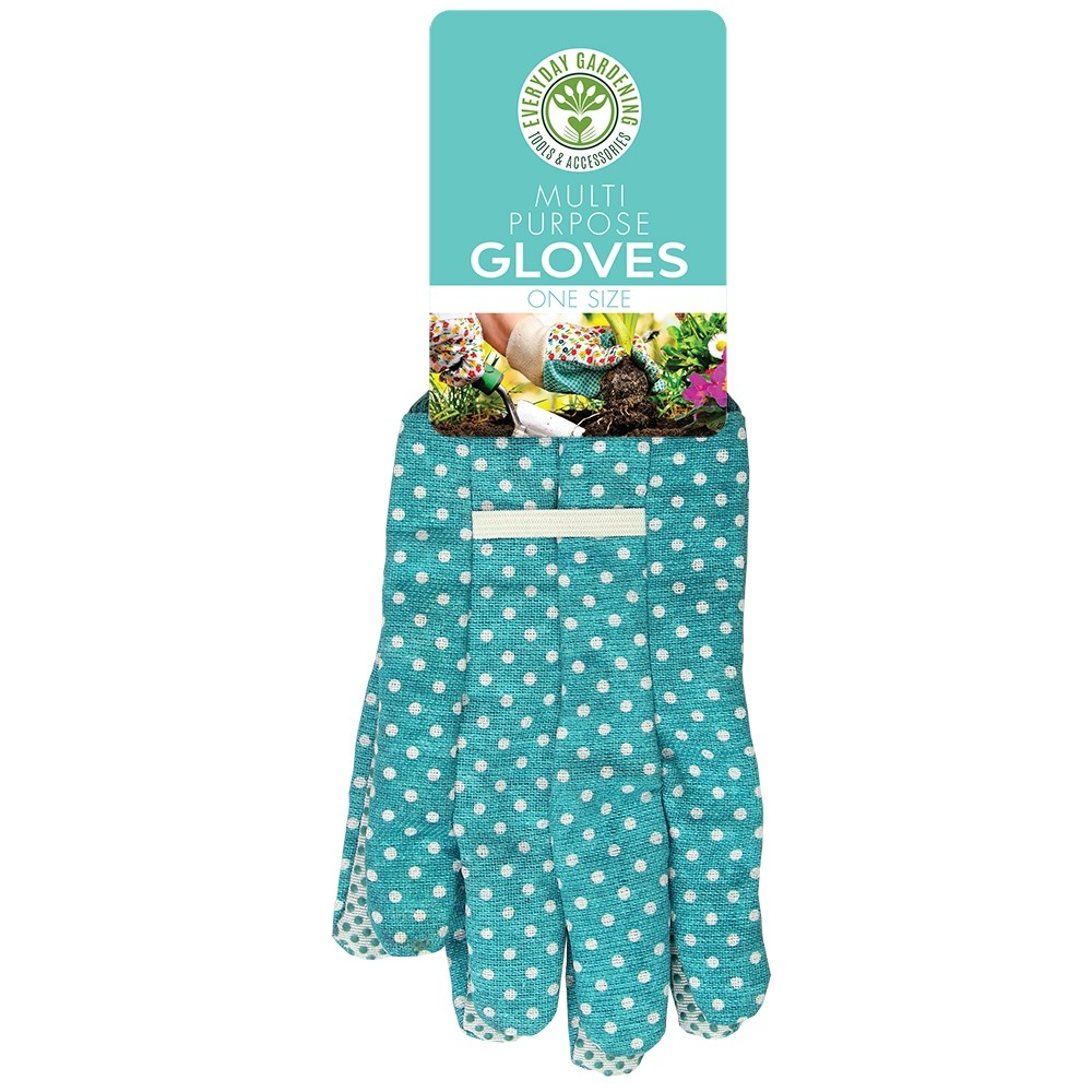 MULTI PURPOSE GARDENING GLOVES BLUE