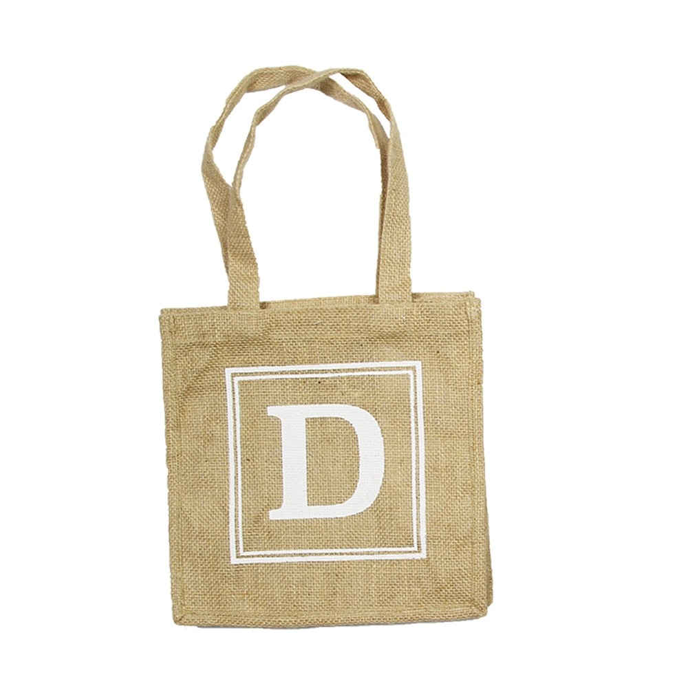 HESSIAN TOTE BAG - D
