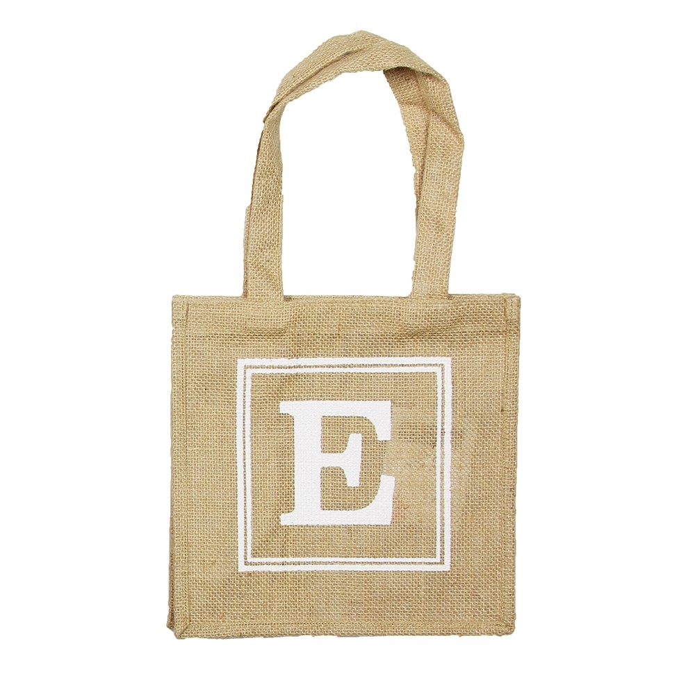 HESSIAN TOTE BAG - E