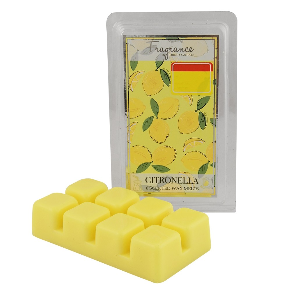8 WAX MELTS CITRONELLA LEMON