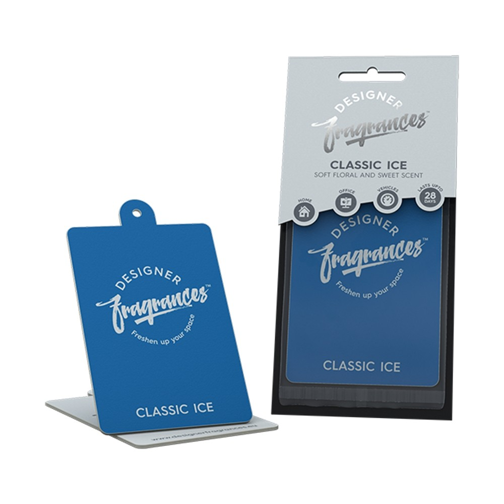 DESIGNER FRAGRANCES CLASSIC ICE AIR FRESHENER